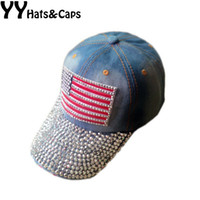 Vente en gros - Diamond Snapback Femmes Basketball Hat Coton Cap American Flag Style Mode Sports Hat Strass Snap Back caps YY0885