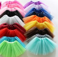 Wholesale Wholesale Childrens Shirts Free Shipping - NEW Baby Girls Childrens Kids Dancing Tulle Tutu Skirts Pettiskirt Dancewear Ballet Dress Fancy Skirts Costume Free Shipping JC214