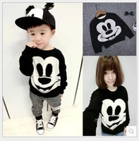 Wholesale Sweater Mother Daughter - 2017 New Spring Cartoon Mickey Mouse Sweaters For Mother And Daughter Family Matching Outfits Kids Knitted Pullover Boys Girls Sweatshirts