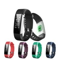 ID115 Plus Pulsera Inteligente IP67 Monitor de ritmo cardíaco impermeable Monitor de Fitness Pulsera de reloj Smart Band Reloj Inteligente