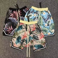 Wholesale Harem Sweat Pants - Justin Bieber FOG fear of god Collection 3D Plants Floral shorts Running Breathable short stretch sweat jogger shorts casual beach pants
