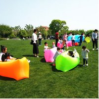 Inflatable sofa outdoor couch used - Outdoor portable air couch loungers can be used to fold water filled bed beach sleeping bags for free