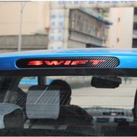 Barato Adesivos De Carro Para Swift Suzuki-Car Styling Car Cover Protector Carbon Fiber Vinyl Sticker Brake Light Hatch Voltar Decoração para Suzuki Swift