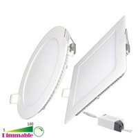 Wholesale Led Panle - Dimmable 6W 9W 12W 15W 18W 21W 30W LED Round   Square Panle Lights 3.5-4-5-6-7-8-9-12 Inch Recessed LED Ceiling Light
