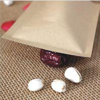 papier lebensmittel verpackung aluminiumfolie tasche großhandel-Neue Lebensmittel Feuchtigkeitsbeständige Beutel Kraftpapier mit Aluminiumfolie Futter Stand-up-Beutel Druckverschlussverpackung Wrap für Snack Candy Cookie Backen