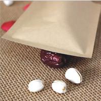 ingrosso carta in alluminio-Nuovi sacchetti a prova di umidità per alimenti Carta kraft con rivestimento in foglio di alluminio Stand UP Pouch Chiusura lampo Confezione per snack Biscotti caramelle Cottura