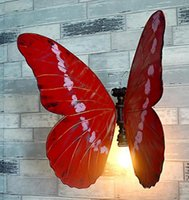 Wholesale Butterfly Umbrellas - Personalized water butterfly wall lamp DIY creative metal decorative lighting corridor corridor lighting props Free shipping