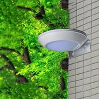 Wholesale Microwave Sensors - 16LEDS 260LM Microwave Radar Motion Sensor LED Solar Light Waterproof IP65 Street Lamp Outdoor Wall Security Spot Lighting