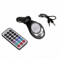 Wholesale car shape mp3 player resale online - Car MP3 Player FM Transmitter FM Modulator With Wireless Remote Control USB SD MMC Black Lute Shape