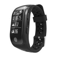 ingrosso bracciali arrampicata-S908 GPS Smart Band Sport Wristband Bluetooth Bracciale Supporta Monitor della frequenza cardiaca Nuoto in esecuzione Walk Climb Orologio impermeabile Smartwatch
