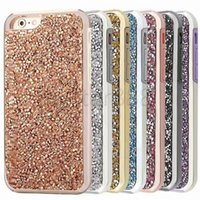 Premium Bling 2 em 1 Luxo Diamond Rhinestone Glitter Back Cover Phone Cases para iphone X 8 Plus 7 6s mais Case Shell Wholesale DHL grátis