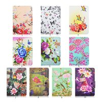 Wholesale Pouch For Inch Tab - Universal Pouch For 7 to 8 inches Tablet Kickstand Flower Rose Pattern PU Leather Case For iPad Mini 1 2 3 4 Samsung Tab DHL Free Shipping