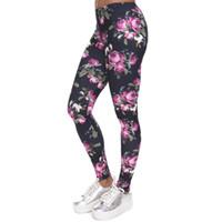 ingrosso giacche sessuali-Ventilatore sportivo Sex Color Full Graphic Roses Pantaloni Flower Star Print Capris Elastic Gym Leggings Free Size Slim Fit Pantaloni PWDK21-01 WR