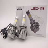 Wholesale Led Car Headlight Bulb Cree - 160W 16000LM Car CREE 4 chips LED Headlights Auto Conversion Lamp Bulb Light H7 H8 H9 H11 HB3 HB4 9005 9006 WHITE 6000K