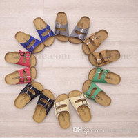 Wholesale Kids Slippers Wholesale - Kids Beach Flip-flops Summer Sandles Cork Beach Sandals Fashion Antiskid Slippers PU Leather Slippers Casual Cool Slippers Sandalias B1936