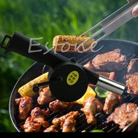 Wholesale Hand Crank Blowers - Wholesale- 2015Newest 1pc New BBQ Fan Hand Fan Cranked Outdoor Picnic Camping BBQ Blower Barbecue Fire Freeshipping Y102