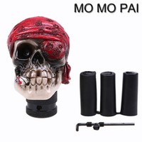 HOT Universal 5/6 Speed ​​Car Manual MT Gear Shift Lever Knob Shifter crânio Skeleton Head Fit para Lexus VW