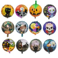 13 Stil Runde Folie Ballons 18inch Helium Ballon Aufblasbare Spielzeug Halloween Dekorationen Bar Dekor Event Party Supplies