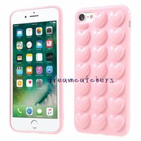 Wholesale soft jelly case for sale – best 3D Heart Case For iphone X Plus with Lanyard Soft Lover Silicone Jelly Luxury Phone Cover for s Plus Skin Back Shell with Hang Rope