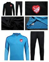 Wholesale Flash Suits - NEW best thai quality 2016 2017 Turkey Training suit 16 17 Turkey ARDA CENK TOSUN football shirt Free Shipping And Wholesale
