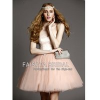 Wholesale Sweetheart Cocktail Dresses Cheap - Blush Pink Tulle Ball Gown Sweetheart Lace Short Prom Dresses for 16 Homecoming Dresses Cocktail Dress Cheap Custom Evening Party Dresses