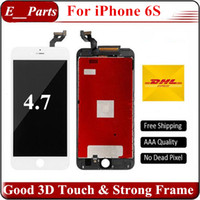Wholesale 3d Wholesale Frames - For iPhone 6S lcd (4.7'') Quality AAA+ LCD Display Touch Screen Digitizer With Cold Glue Strong Frame Full Assembly & Good 3D Touch