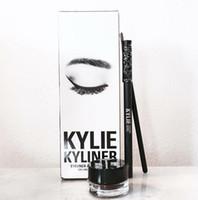 Wholesale Water Gels Colors - Kylie cosmetics gel eyeliner Pen Eyebrow 1 set = eyeliner + brush + cream kylie Jenner kit bronze chameleon Kyliner Black Brown makeup sets