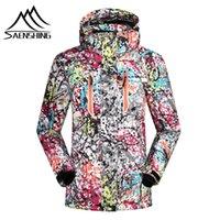 Wholesale Clothes Jackets Woman - Wholesale- SAENSHING 2016 ski jacket women winter snow waterproof windproof snowboard down coat graffiti print female jackets girl clothes
