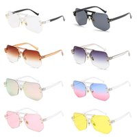 Wholesale sunglasses packs online - Men Womens Sunglasses Fashion Designer Clear Lens Oversized UV400 Shades Eyewear Packed in Box