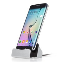 Wholesale Desktop Charging Dock - Phone Charger Micro USB charger for samsung s8 s7 Android universal Sync Charging Dock with Desktop Stand