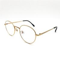 round men s eyeglasses venda por atacado-2017 Luxo Fine Frame titânio puro rodada óculos de armação homens e mulheres estilo e arte do vintage e óculos de armação