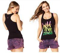 Wholesale Yoga Tank M Racerback - woman vest tops dance yoga clothes Wild About Racerback tank black color