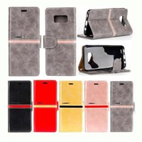 Wholesale Popular Photo Frames - two-tone + photo frame phone wallet back holder elegance tpu case popular business cover for iphone 7 samsung s8 plus OEM multi function
