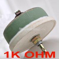 Wholesale 1k Ohm Resistor - Wholesale- (10 pcs lot) 100W 1K OHM High Power Wirewound Potentiometer, Rheostat, Variable Resistor, 100 Watts.