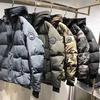 Wholesale Silver Down Coats - Qulity Goos Brand Design Hooded Men Down Coat Luxury 86320 Thicken Down Jacket Canada Camouflage Parkas 5 Colors Coats