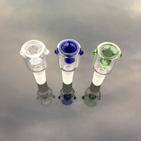 Envio DHL grátis !!! Atacado 10mm 14mm 18mm Glass Bowl Feminino Masculino Clear Blue Green Com Honeycomb Screen Round Glass Bowls For Oil Rigs