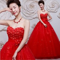 Wholesale Thin Bras Model Pictures - Bra strap tail wedding dress show thin new explosion of hot spring 2016 red wedding bride wedding fashion winter