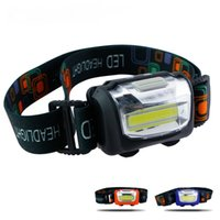 Wholesale Cree Headlamps For Sale - 2017 New Sale Lampe Frontale 500 Lumens Led Headlight 3 Modes Sos Cree Cob Leds Headlamps for Cycling Camping Fishing Mountaineer By 3*aaa