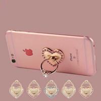 Wholesale Diamond Mounts - Finger Phone Holder Metal 360 Degree Rotation Fashion Diamond Ring Phone Stand Mount for iPhone Samsung Xiaomi Huawei