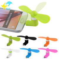 ingrosso mini cell-Mini Cool Micro USB Fan Cellulare USB Fan Cellulare Per tipo-c micro USB iPhone x