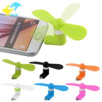 yelpaze toptan satış-Mini Serin Mikro USB Fan Cep Telefonu USB Fan Cep telefonu tipi-c mikro USB iPhone x
