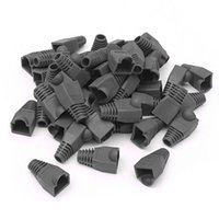 Wholesale Network Cable Covers - 1000PCS Modular RJ45 Cat6 Cat5 Network Cable Connector Plug Boot Strain Cover Caps Black