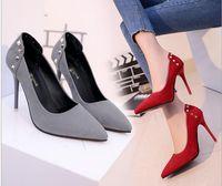 botas de gamuza micro al por mayor-Hot Spring Fashion Buckle Women Boots Open Toe Tacones altos 10 cm Cordón Sólido Mujer Fresco Botines Casual Suede Ladies Shoes