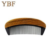 Wholesale Manufacturer Curly Hair - YBF 2017 NEW HOT FASHION green sandalwood ox horn combs sales genuine Quality manufacturers assurance Magic makeup brushes