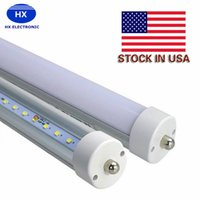Grosses soldes! 8ft 48w tube fa8 led à une seule broche LED Tube Lights 4800Lm Ampoules SMD 2835 2400MM 8feet LED Lampes à tubes fluorescents AC85-265V