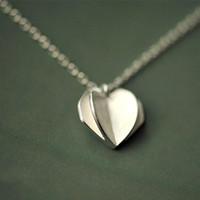 0bac4037977e nuevo corazón de plata simple colgante al por mayor-5 unids   lote Moda  Nueva
