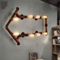 Wholesale vintage iron wall lamp for sale - Group buy American Vintage Wall Lamp Indoor Lighting Bedside Lamps Iron Wall Lights Industrial Loft Wall Sconce Fixtures For Home E27 Bulb LLFA