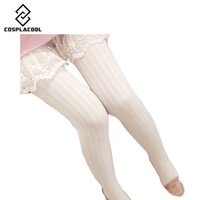 Wholesale Brown Velvet Tights - Wholesale- [COSPLACOOL]2016 Autumn Winter Necessary Thick Velvet Tights Women Sexy Pantyhose Stripe Leg Warm Beautiful leg