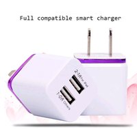 Wholesale Mobile Phone Charger Adapter Solar - 2.1A Dual USB Metal US Plug Charger AC Adapter 2 ports for a variety of mobile phone tablet PCs