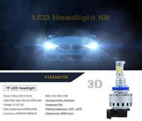 Wholesale Auto Lamps H4 - 2017 NEWEST 3D LED Car Headlight Bulb Lamp Light Kit H7 H8 H9 H11 HB3 9005 HB4 9006 H4 All in one Auto Car LED DRL Fog Light